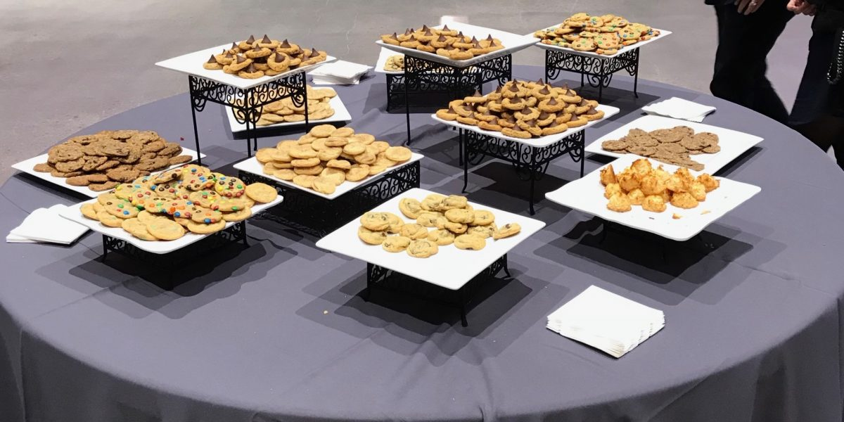 Cookies served at a reception we attended