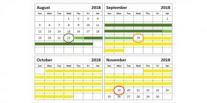Calendar After Fasting Retreat
