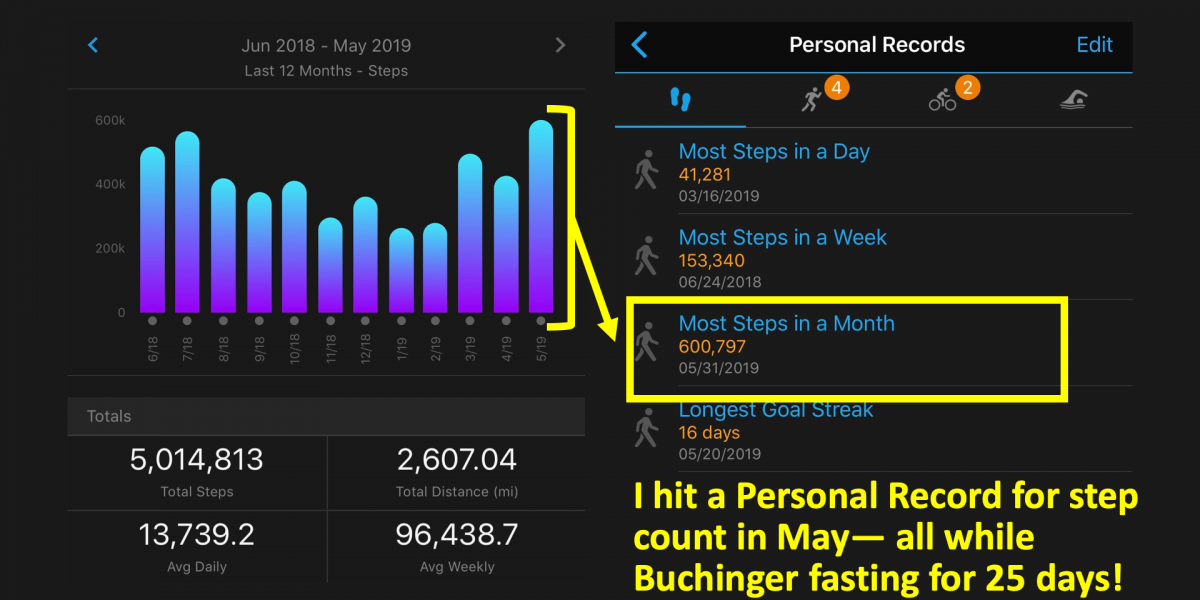 Step Count During Buchinger Wilhelmi Fasting Clinic